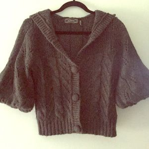 Short, Bell-sleeve Guess Sweater